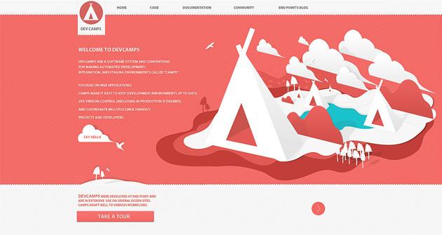 Dev Camps Landing Page Design