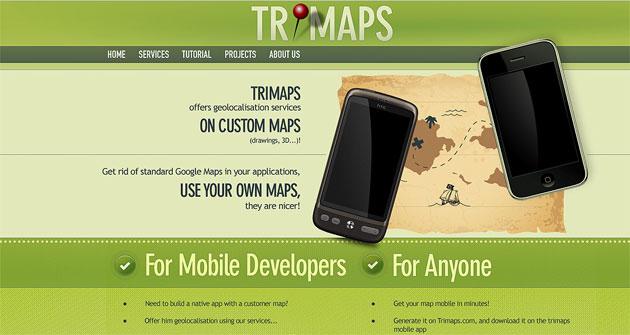 TriMaps Landing Page Design