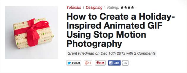Photoshop: Animated GIFs