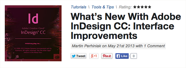 Adobe InDesign: User Interface Improvements